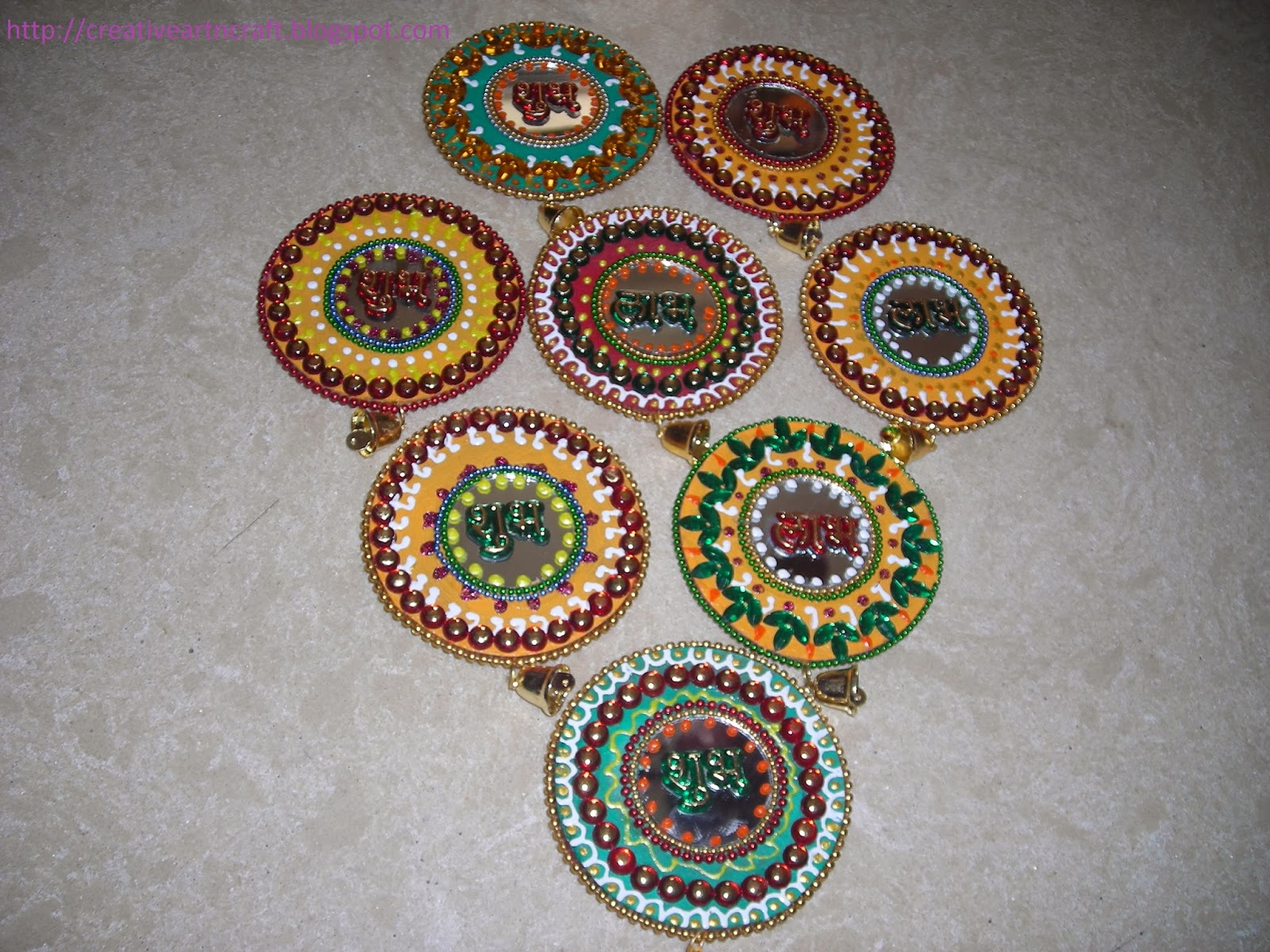 Diy cd wall hanging diwali decor pinterest - Designs in glasses for house decoration ...