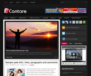 Cantare Blogger Template
