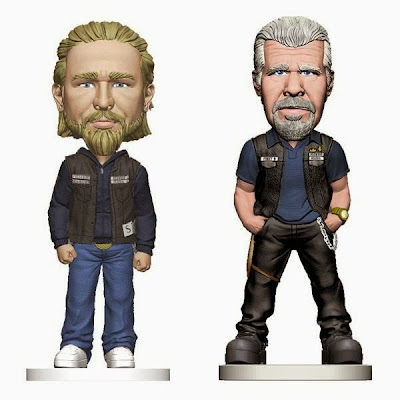 Sons of Anarchy Bobble Heads by Mezco Toyz - Jax Teller & Clay Morrow