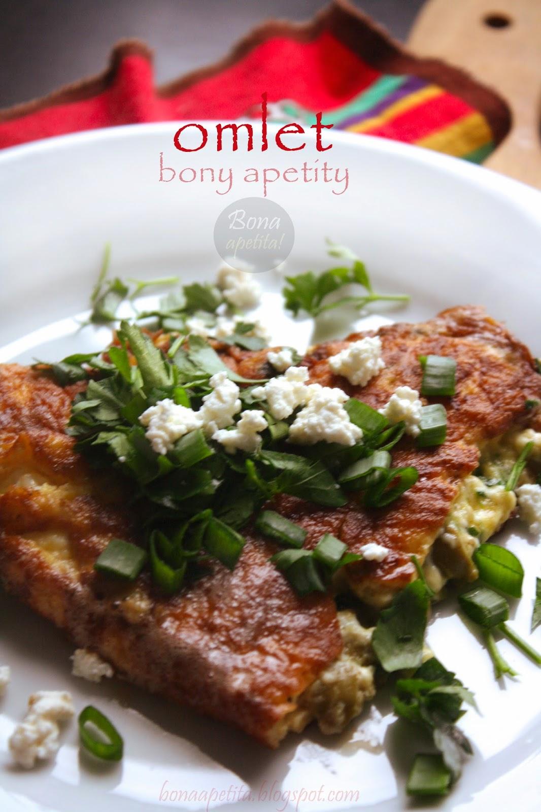 omlet z twarogiem i ziołami