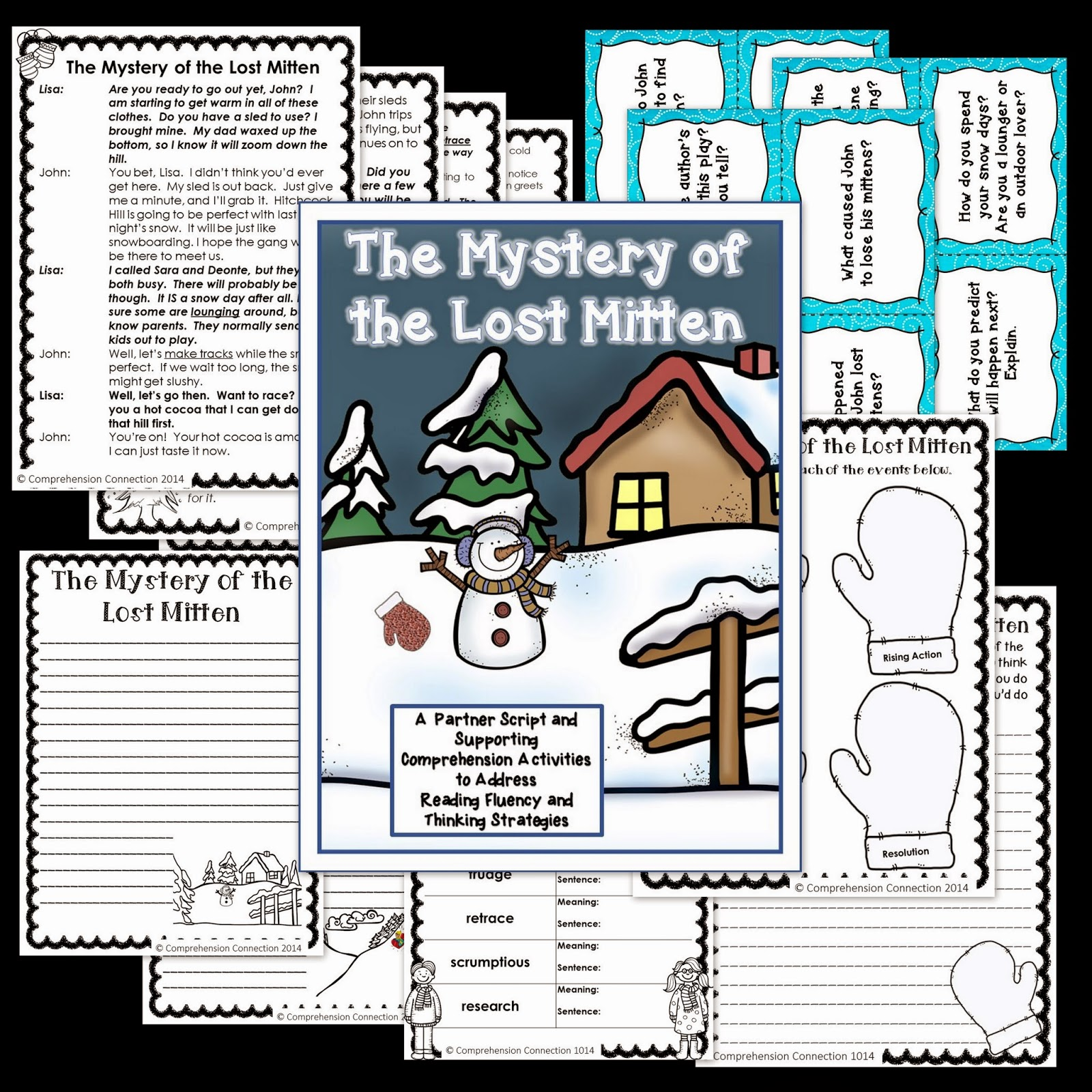 Mitten Story Sequencing Cards