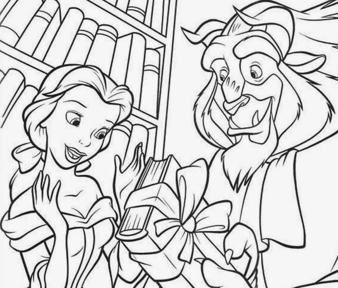A Bela e a Fera Coloring Drawing Free wallpaper