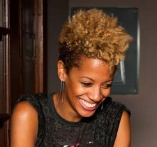 Tapered Natural Hair worn in a wash-n-go hairstyle