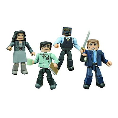 Gotham Minimates Series 1 Box Set by Diamond Select Toys - Detective Jim Gordon, Chief Sarah Essen, Edward Nygma (aka The Riddler) & Black Mask