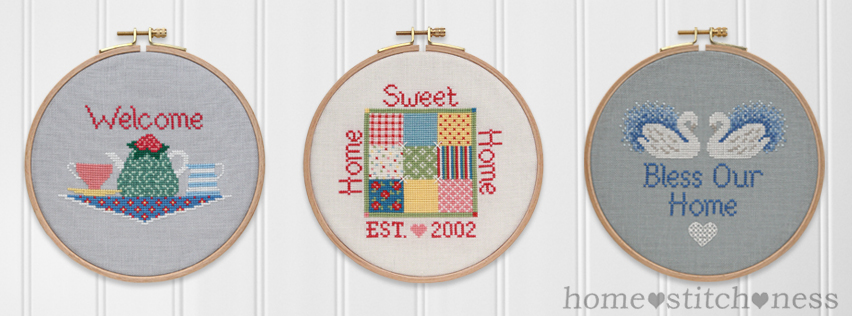 The Home Collection cross stitch designs by homestitchness