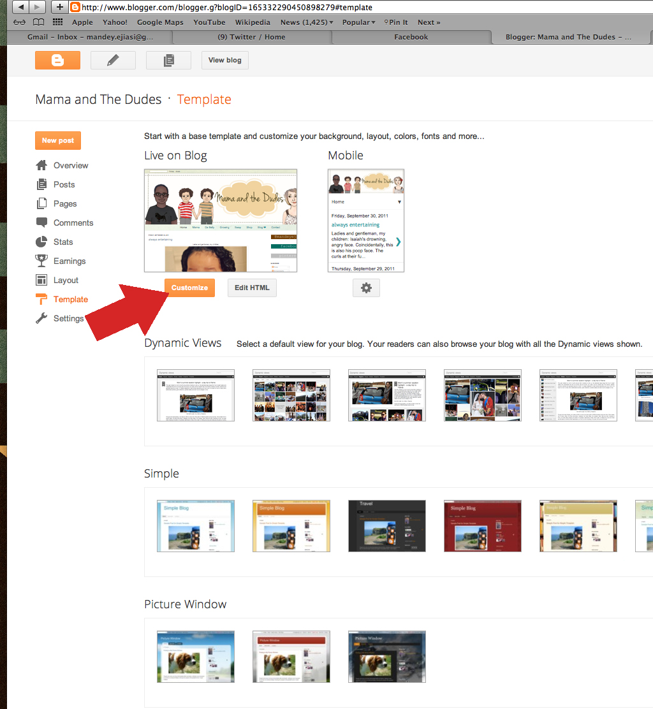 steps tabs blogger