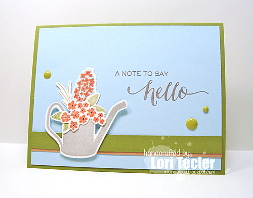 A Note to Say Hello card-designed by Lori Tecler/Inking Aloud-stamps and dies from WPlus9