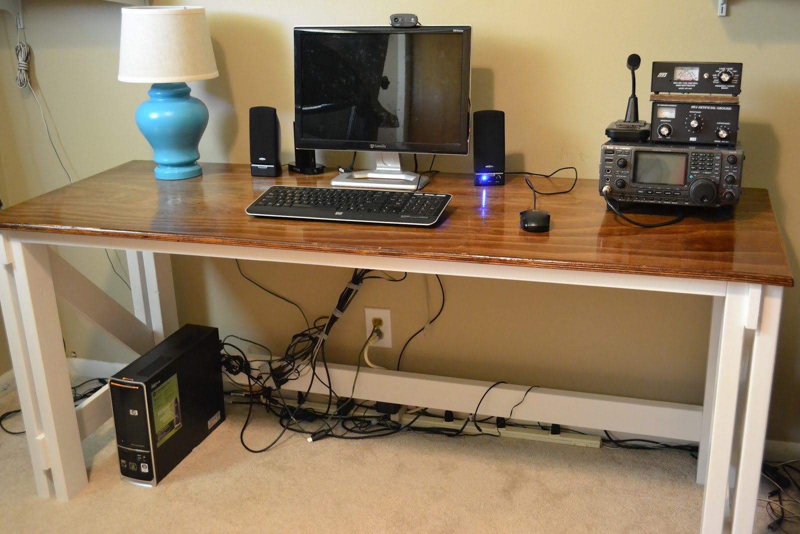 Diy office computer desk for Office table ideas