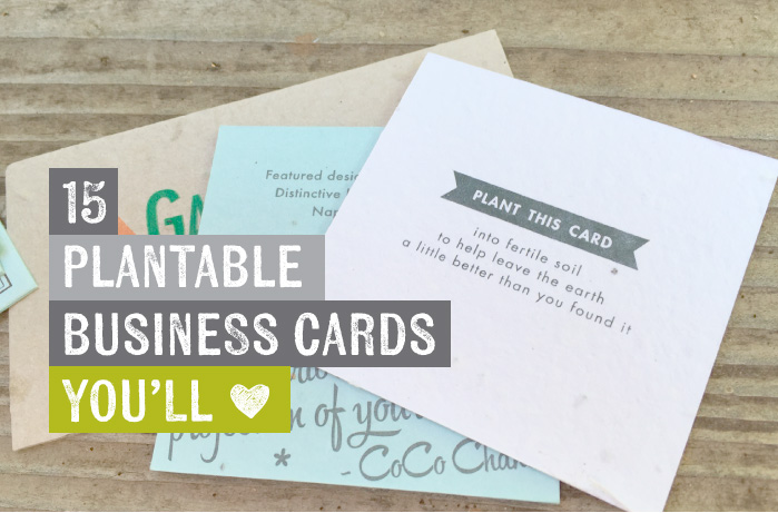 For Ever Leave A Lasting Impression With Plantable Business Cards