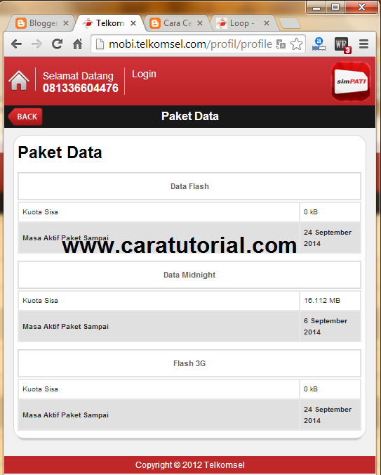 Image Result For Cek Paket Internet Simpatia