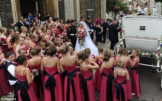 innovative 80 bridesmaids themed wedding