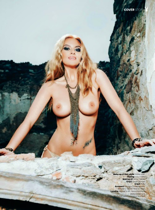 Sexy Romanian singer Tara Holtea nude in Playboy pic 9