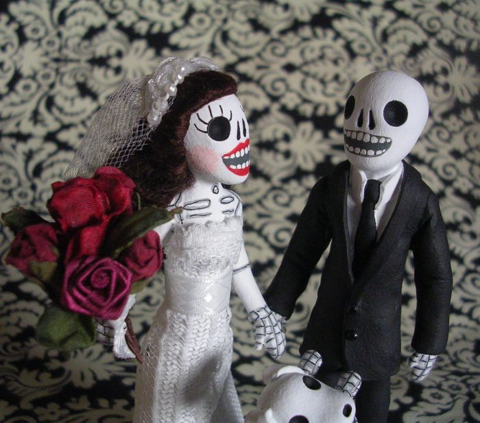 Clay Lindo: Day of the Dead Wedding Cake Topper