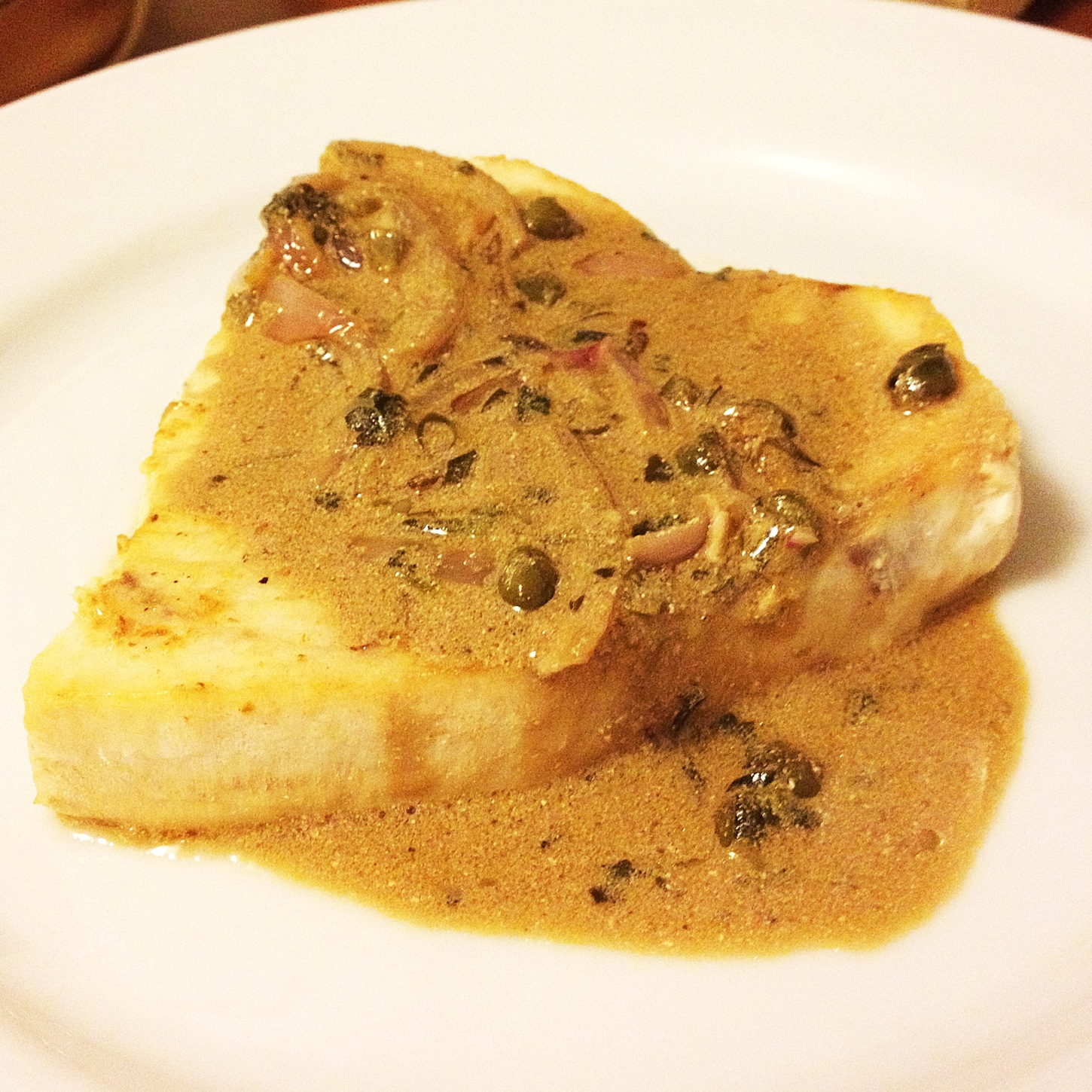... est Bon . . .: Pan-Seared Swordfish Steaks with Dijon Cream Sauce
