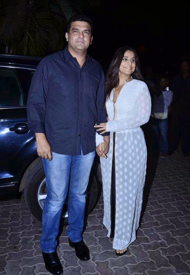 Siddharth Roy Kapur and Vidya Balan at Karan Johar Birthday party