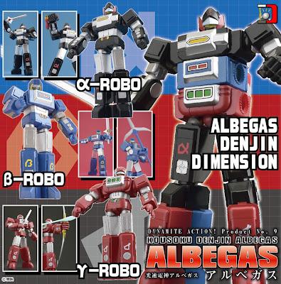 Evolution Toy Dynamite Action Albegas AKA Voltron II Figure