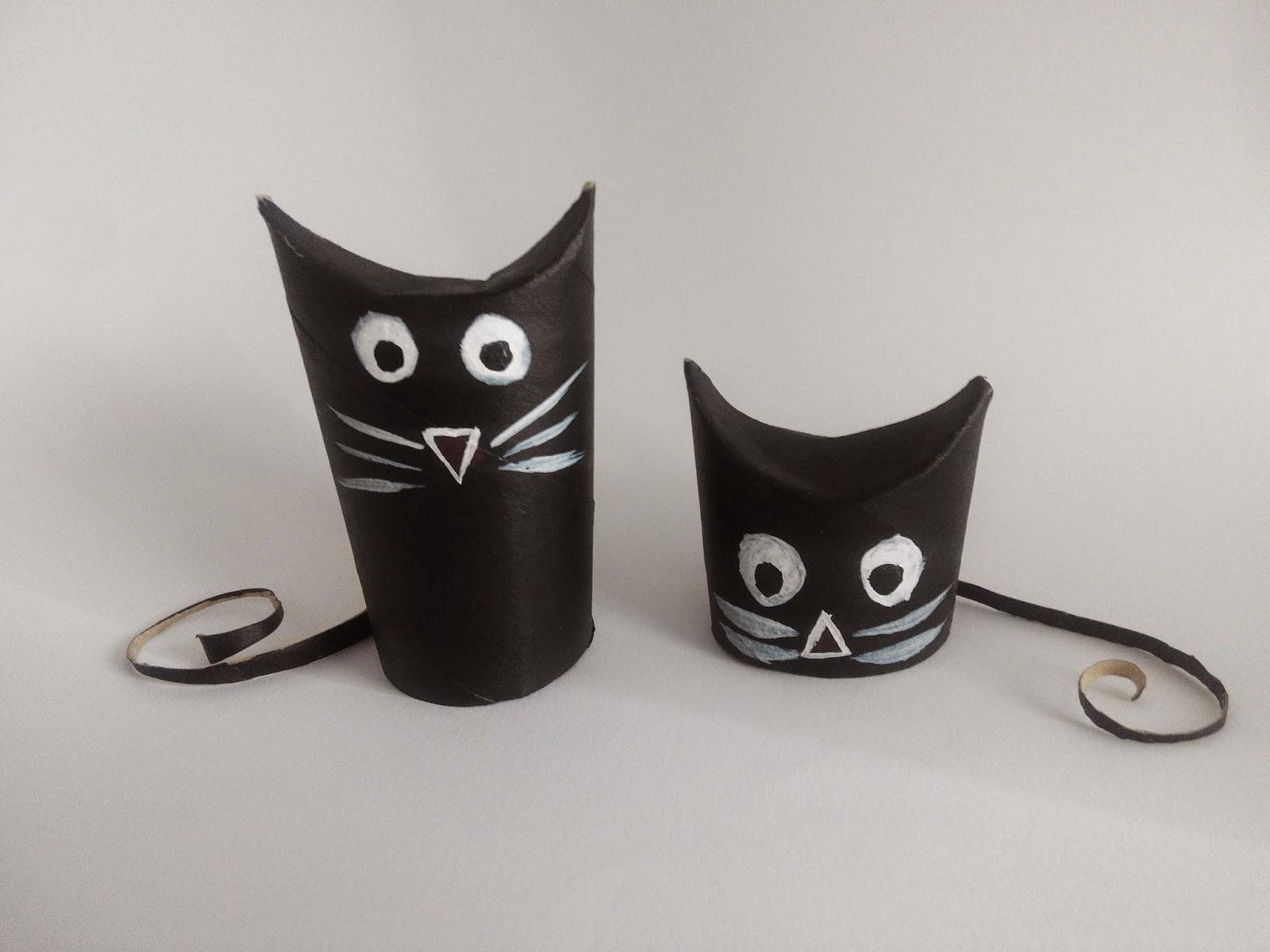 gatos con rollos higienicos