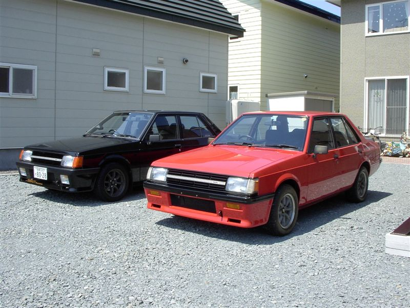 Mitsubishi Lancer oldschool, 2nd gen, klassik auto, RWD, 2-liter turbo, 4G63