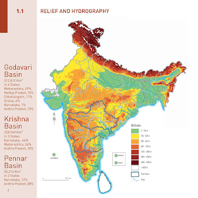 relief and hydrography india