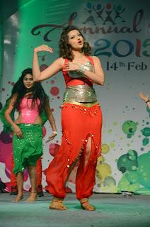 Actress Hamsa Nandini  Stage Dance Stills at Global Logic Annual Bash  40.JPG