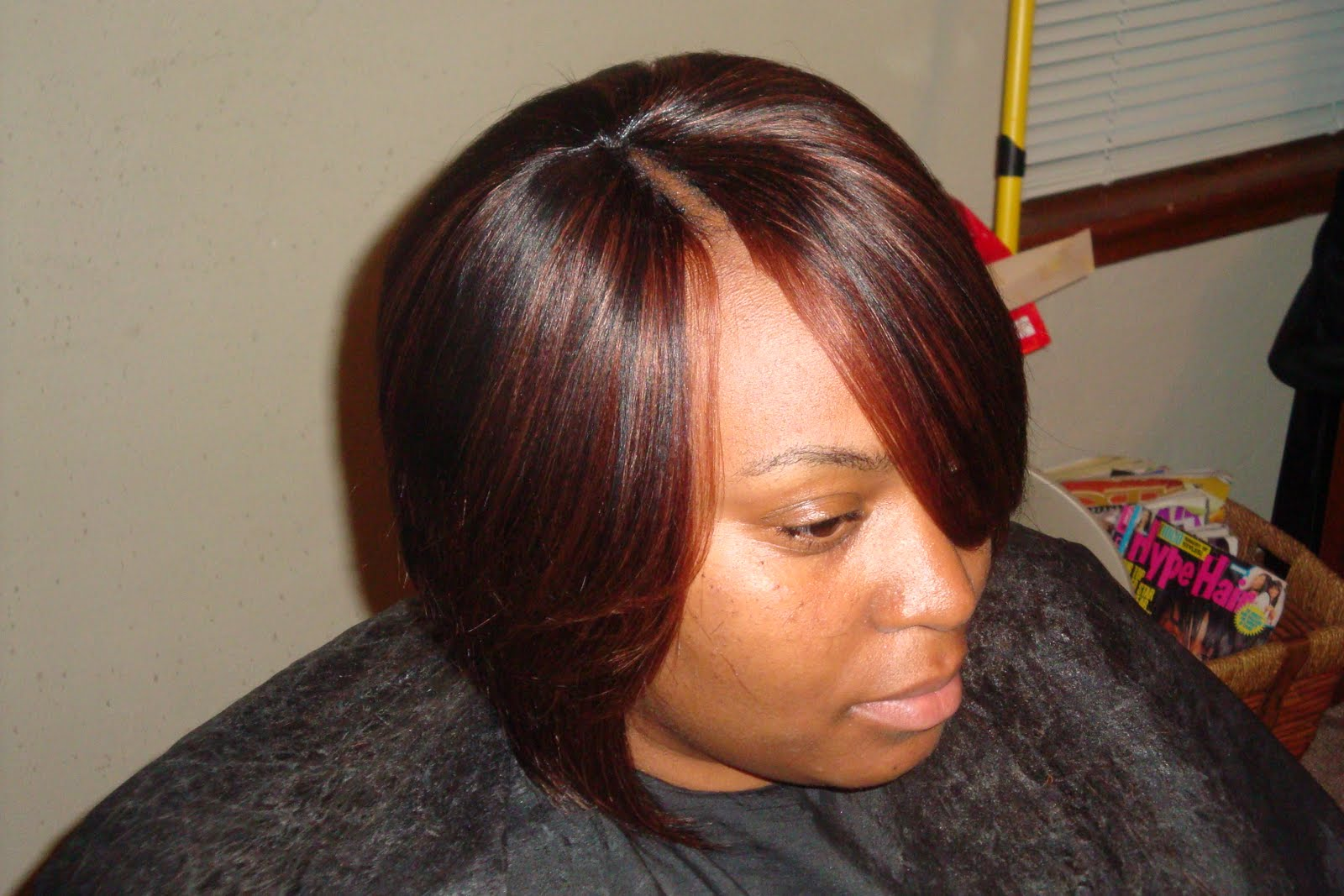 Short Invisible Part Weave Bob Hairstyles