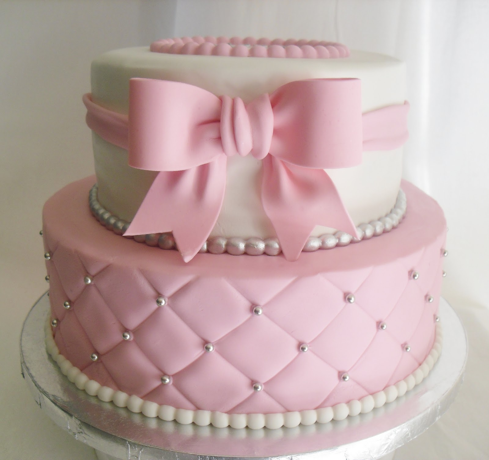 Baby Shower Cakes For Girls ~ Made fresh daily quilted pink and white baby shower cake