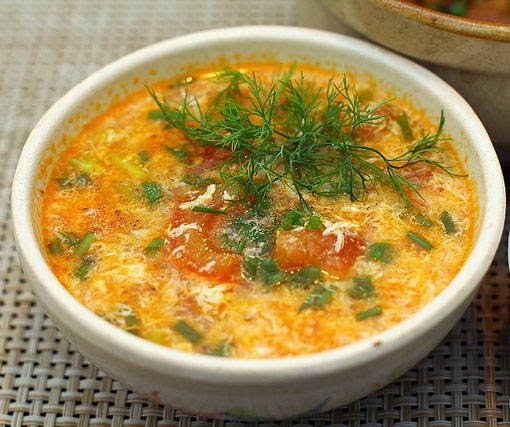 Tomato and Egg Soup - Canh Trứng