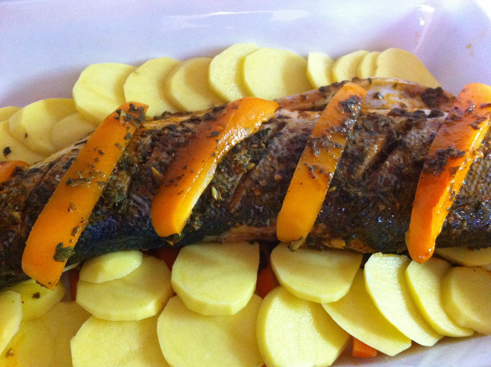 Simple plant based recipes moroccan style baked fish for Simple baked fish recipes