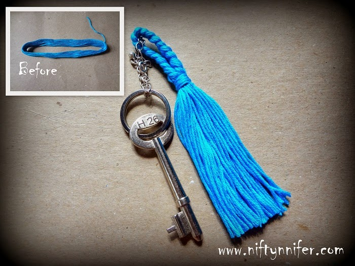 how to make a keychain out of plastic string