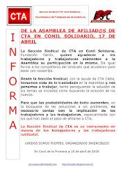 DE LA ASAMBLEA DE AFILIAD@S DE CTA EN CONIL SOLIDARIO, 17 DE ABRIL