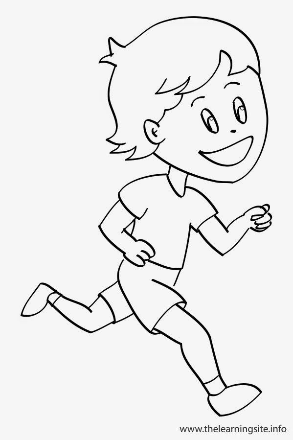 kids running coloring pages - photo#23