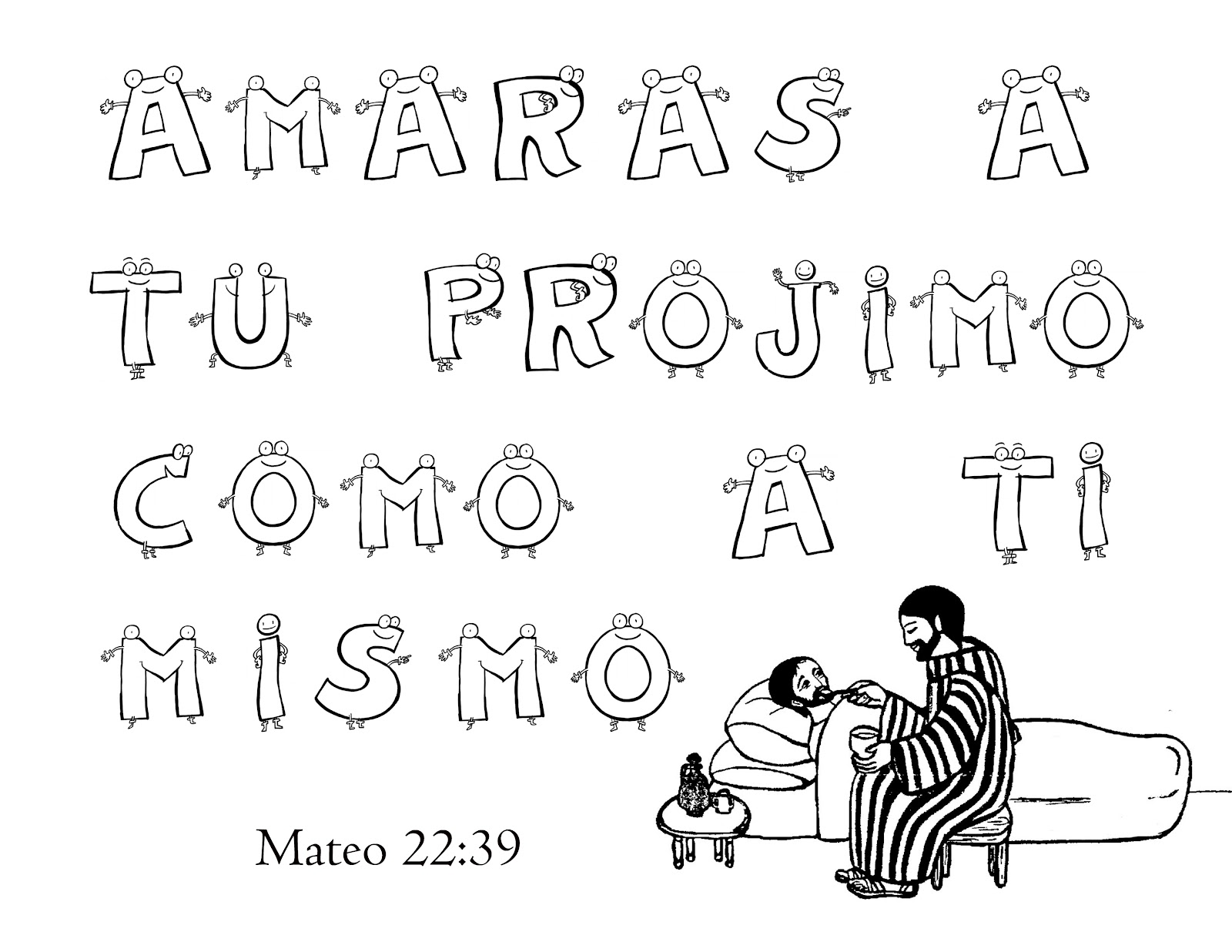 TEXTOS BIBLICOS PARA COLOREAR CON DIBUJO