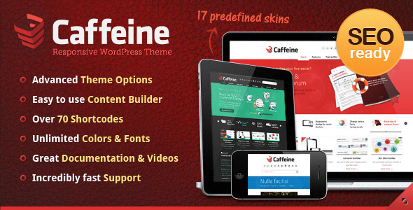 ThemeForest - Caffeine Responsive WordPress Theme