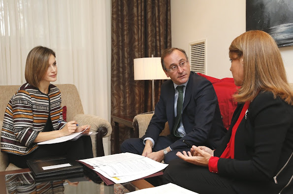Queen Letizia attends a meeting with Royal Board on Disability Council at Zarzuela Palace