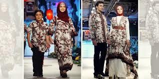Baju pesta batik keluarga