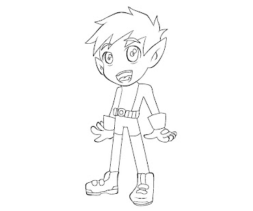 #9 Beast Boy Coloring Page