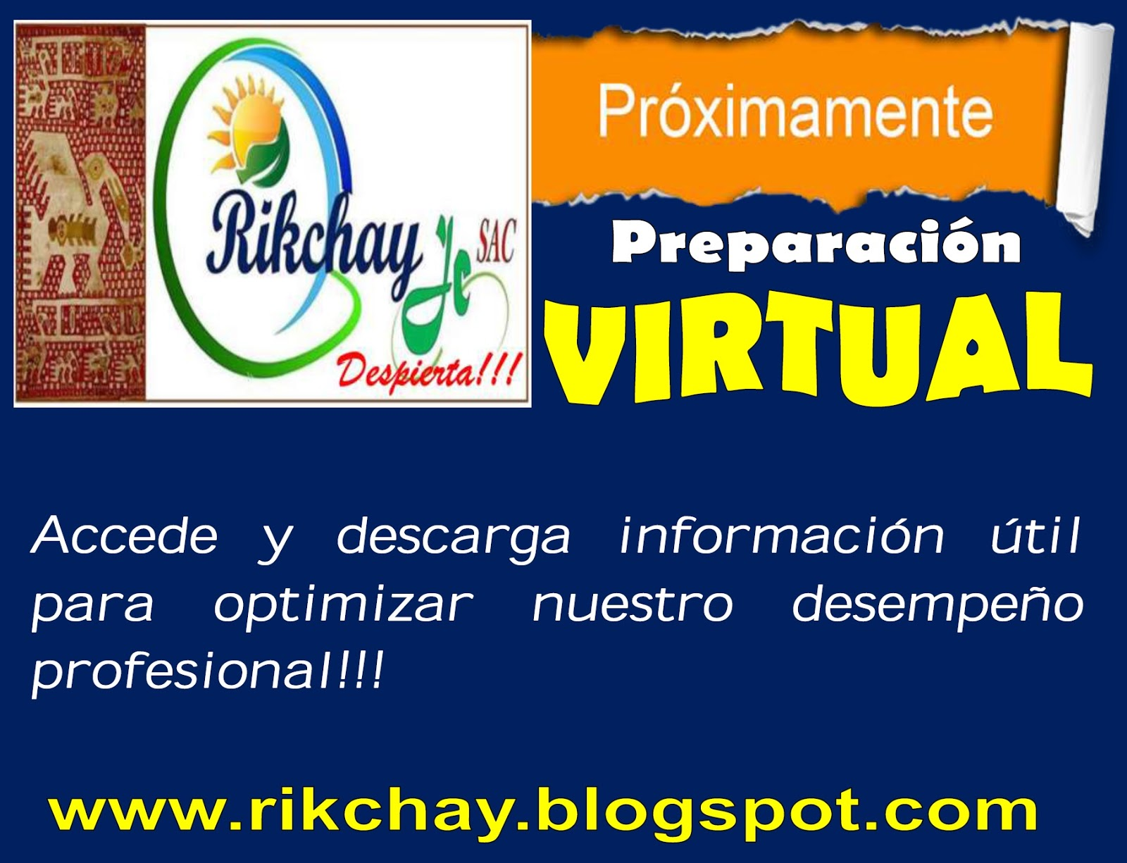 Organizaci n educativa rikchay jc descarga plazas de for Plazas vacantes para docentes