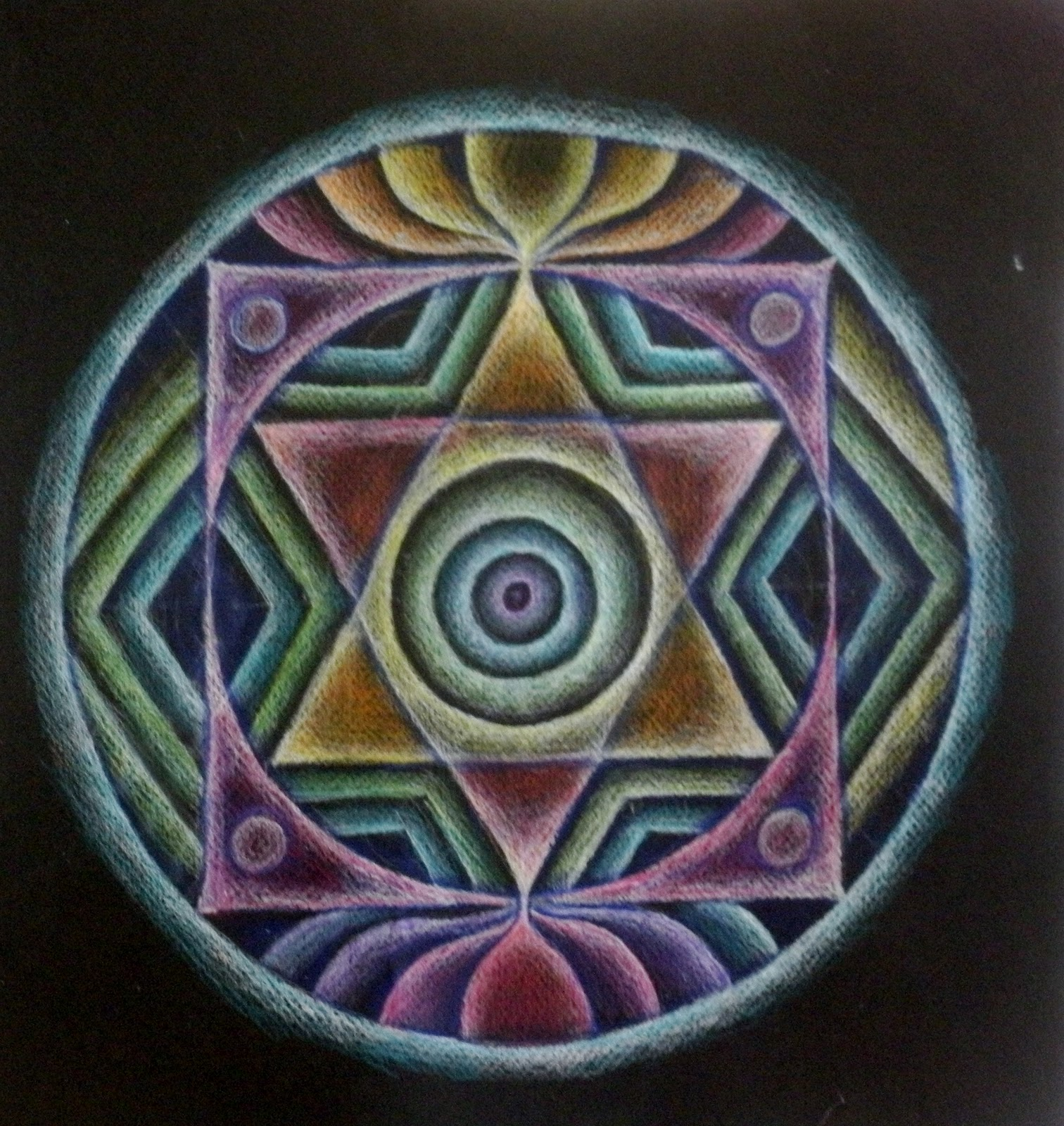 ART FULL MUSINGS: Two More Mandala\'s completed...from Spring Workshop
