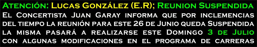 LUCAS GONZALEZ - AVISO