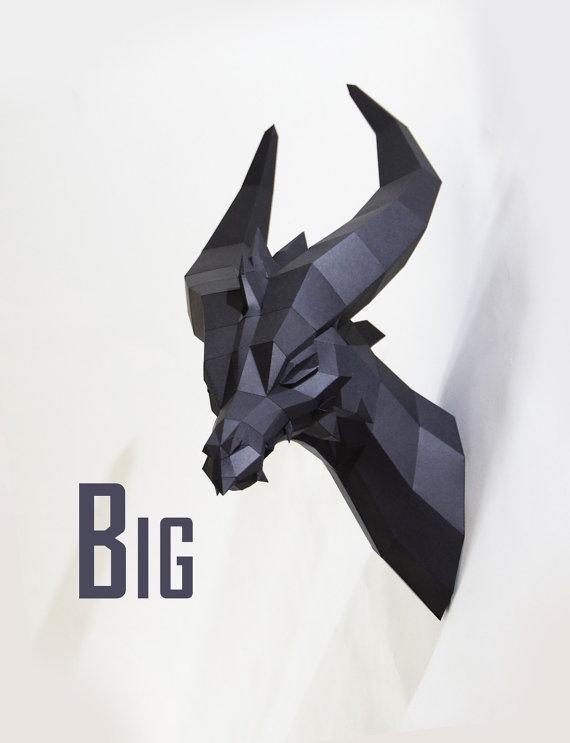 black dragon-paper crafts- trophy