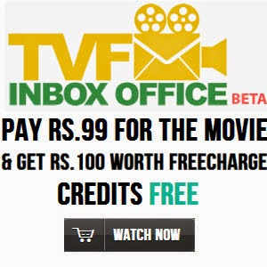 Rs. 104 PayTm wallet Balance + Freecharge Rs. 100 cashback on Rs. 100 + Free Movie Access for Rs. 99 : Buy To Earn