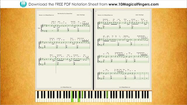 10 Magical Fingers Main Hoon Hero Tera Piano Staff Notations