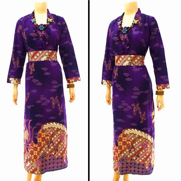 Baju Batik Dress Muslim motif Mega mendung