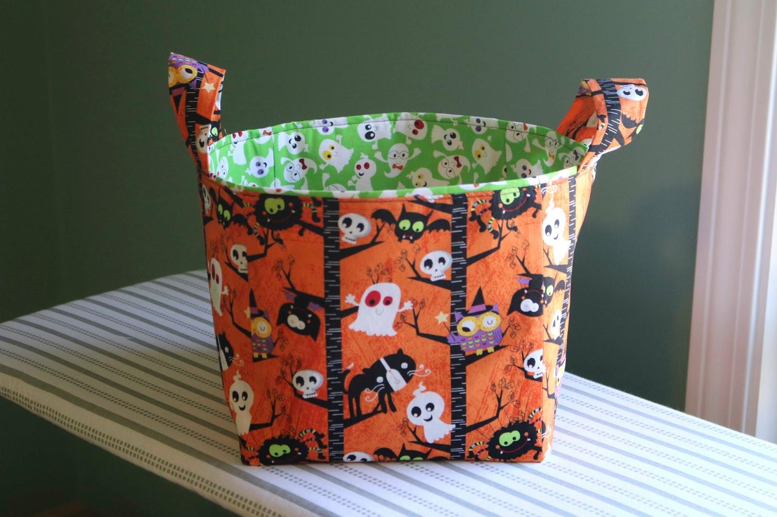 chemknits: halloween sewn storage cube