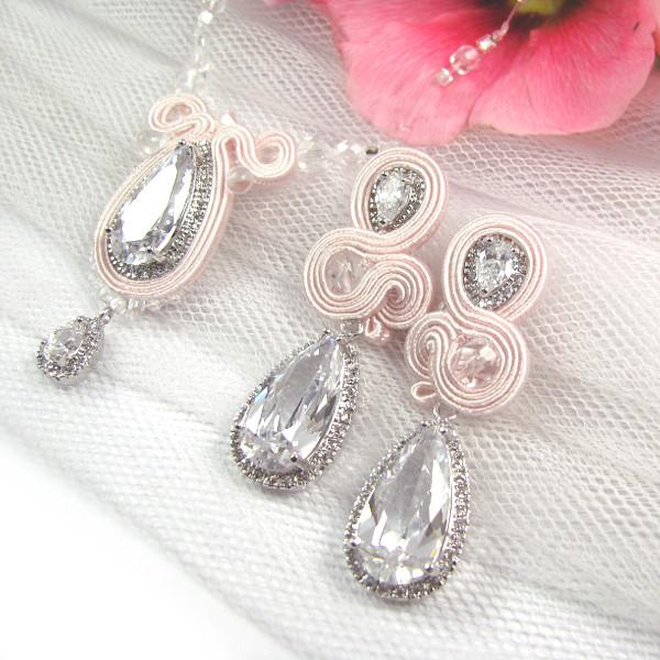 sutaszowa biżuteria dla panny młodej