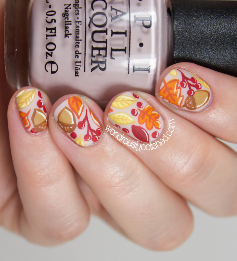 Thatleanne Firey Autumn Leaves Nail Art: Wondrously Polished: The Beauty Buffs