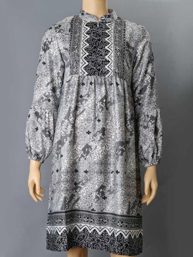 Baruu Gamis Batik Kombinasi Model Baju Muslim Masa