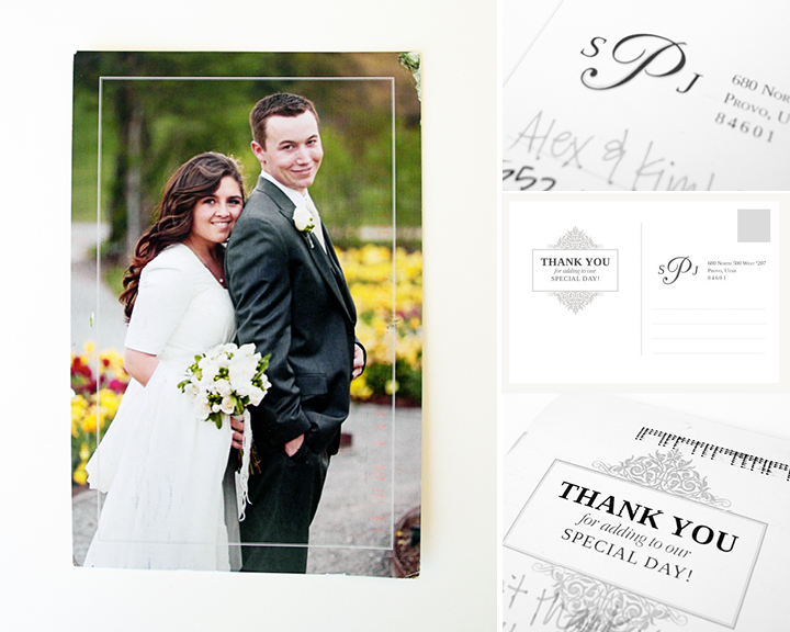 Kimberly Church || Wedding Thank You Postcards