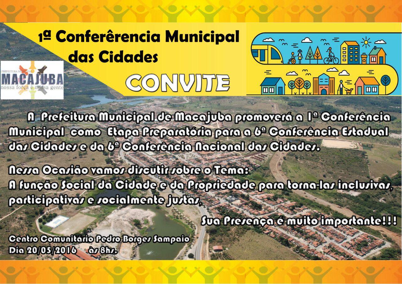 1° Conferência Municipal das Cidades