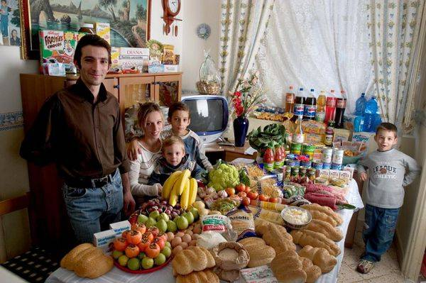 The Manzo family spends around $295 per week.